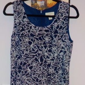 Appleseeds Blue/White Design Dress w/Jacket